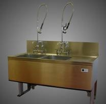 Height adjustable sinks with a range of fittings.JPG